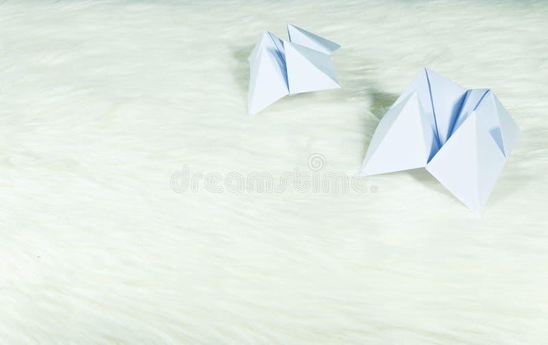 Det papper som används för att förutsäga ödet kallas PappersFortune-teller Återställning på vit päls Redo att användas för att fö royaltyfria foton