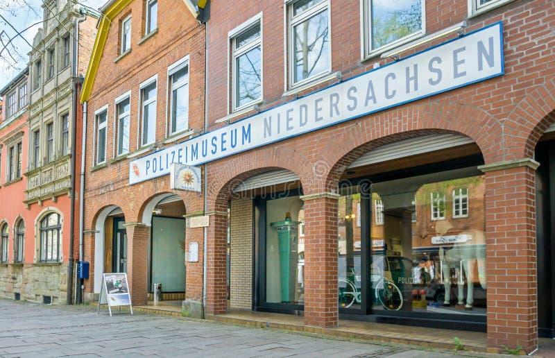 Det Polizei museet Niedersachsen i den Nienburg Tyskland royaltyfria bilder