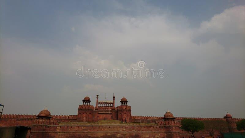 Det röda fortet i gamla Delhi INDIEN fotografering för bildbyråer
