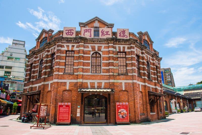 Det röda huset i Ximending av Taipei royaltyfri fotografi
