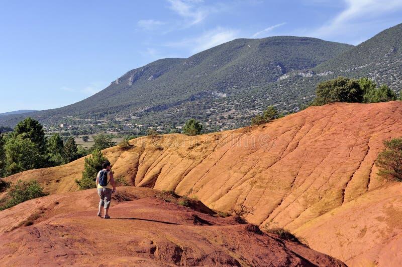 Det röda landskapet grävde vid sex utvecklingar av gruvarbetareockraColorado Pr royaltyfri fotografi