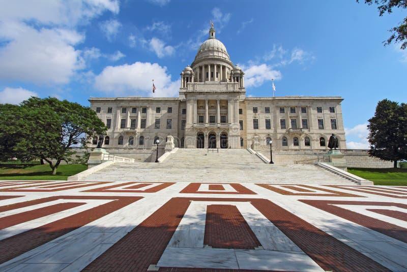 Det Rhode Island tillståndshuset på Capitol Hill royaltyfria bilder