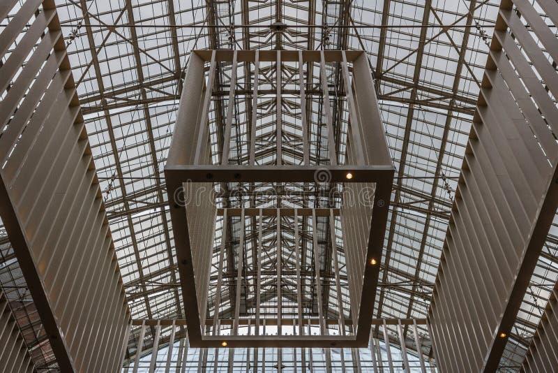 Det Rijksmuseum ingångstaket arkivbild