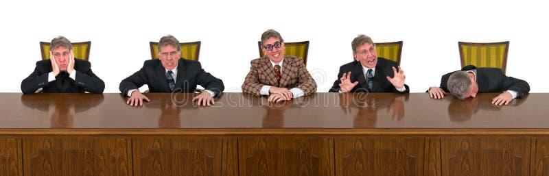 Det roliga affärsfolket, bolagsstyrelse, basar royaltyfri foto