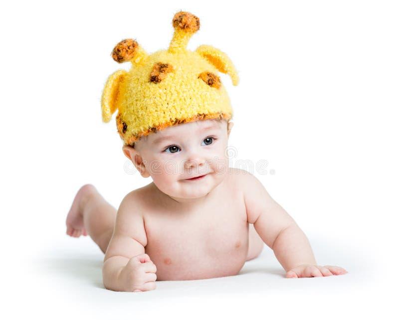 Det roliga spädbarnet behandla som ett barn royaltyfri bild