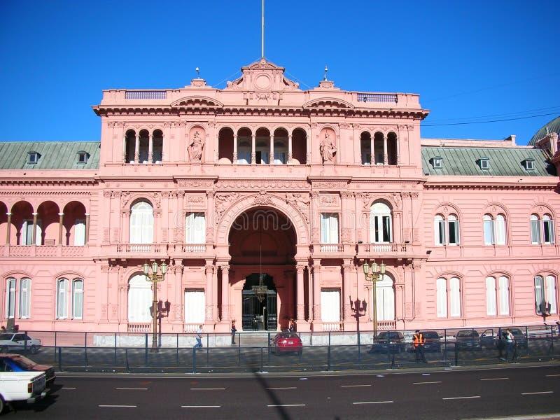 Det rosa huset arkivbilder