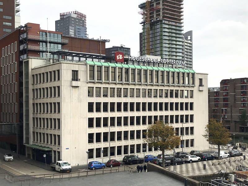 Det Rotterdam universitetet av applicerade vetenskaper royaltyfri fotografi