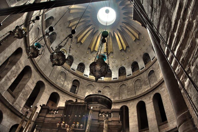 Kyrka av den Rotunda heliga sepulchren - & Edicule royaltyfri bild