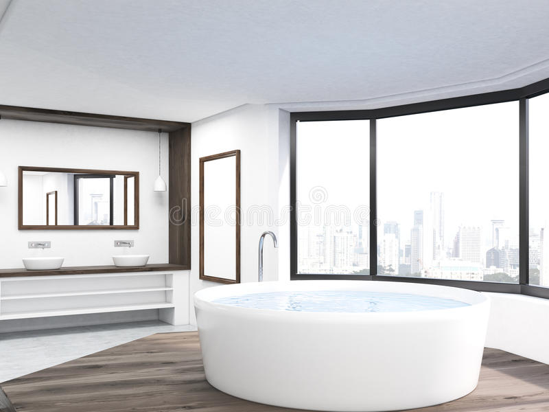 Det runda badet badar royaltyfri illustrationer