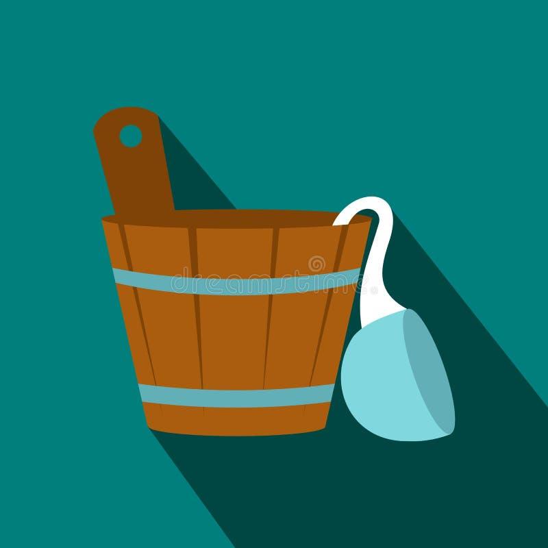 Det ryska badet badar symbolen, lägenhetstil stock illustrationer