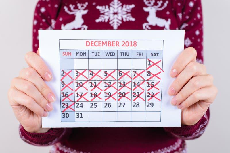 Det ` s en dag som tillbringar veckoslutet jul och en vecka sju dagar till nytt royaltyfri foto