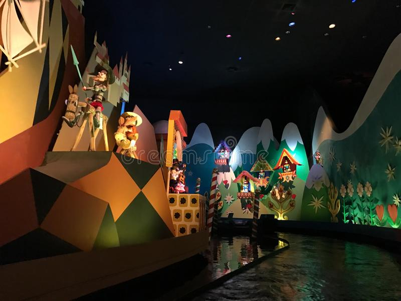 Det ` s en liten världsritt, Walt Disney World, Florida arkivfoton