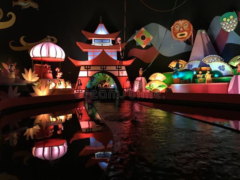 Det ` s en liten världsritt, Walt Disney World, Florida arkivbilder