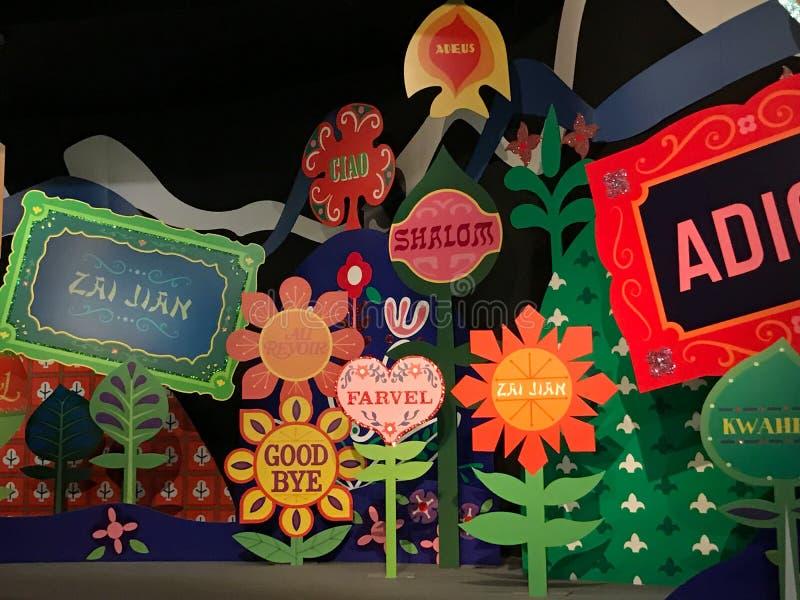 Det ` s en liten världsritt, Walt Disney World, Florida royaltyfri foto