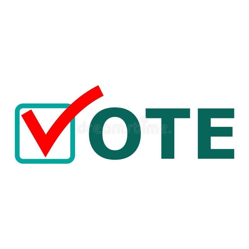 Det s Tid som röstar tecknet, Tid att rösta ord royaltyfri illustrationer