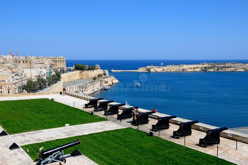 Det salutera batteriet, Malta arkivbilder