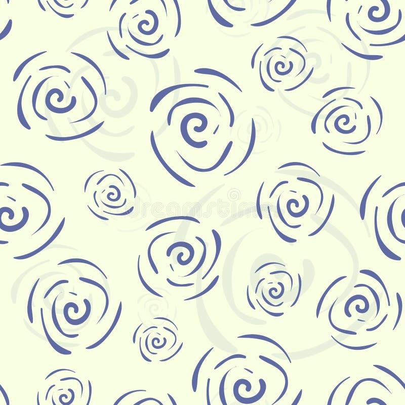 Det seamless vektorklottret mönstrar med blommor vektor illustrationer