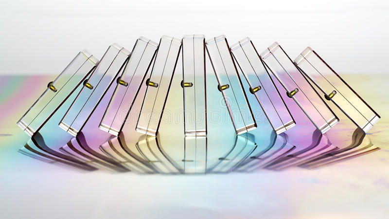 Semitransparent falla för domino royaltyfri foto