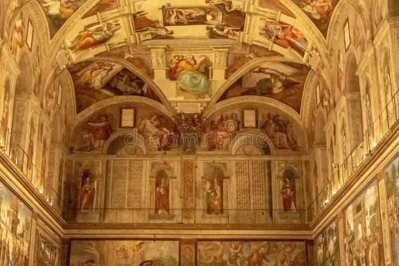 Det Sistine kapellet arkivbilder
