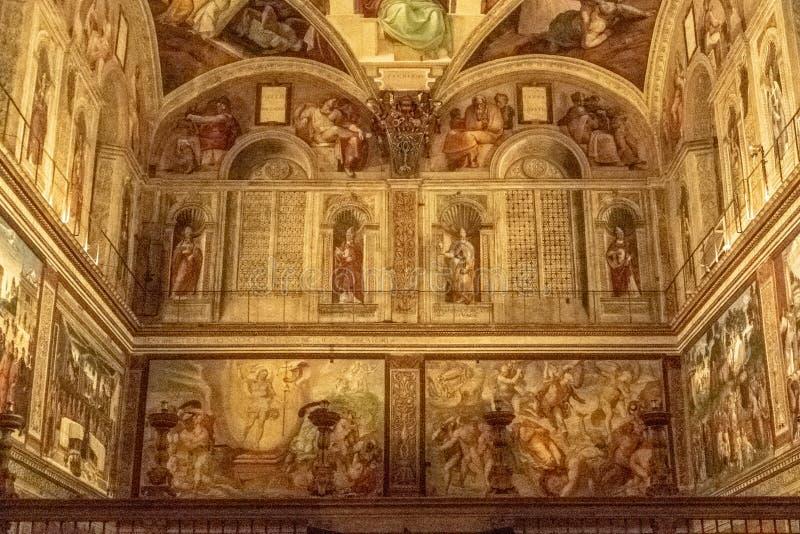 Det Sistine kapellet royaltyfria bilder