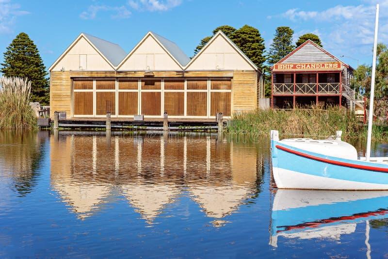 Det skapade på nytt Marina At Flagstaff Hill Maritime museet Australien arkivfoton