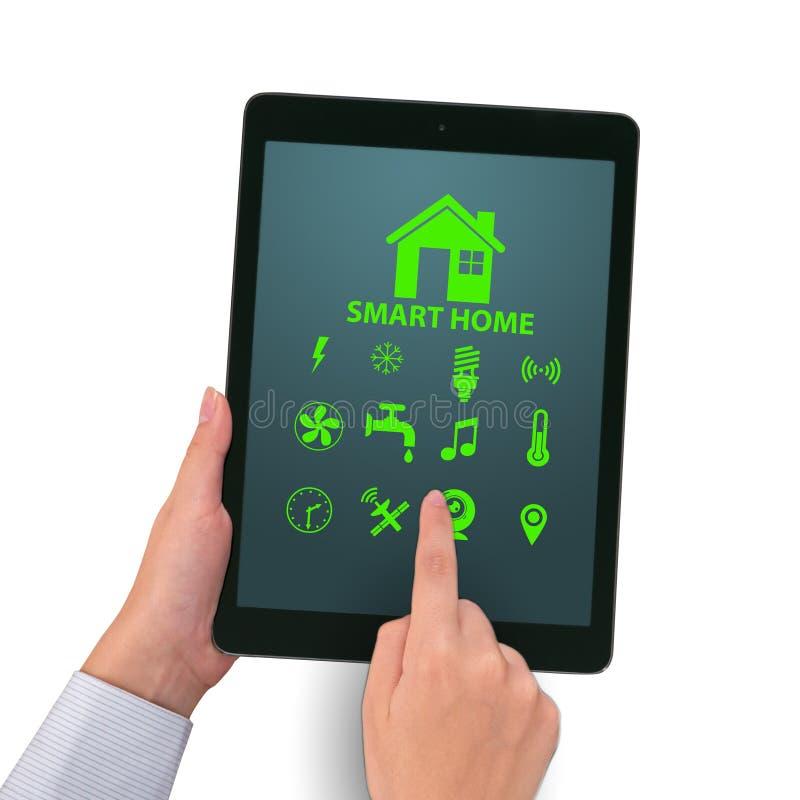 Det smarta hem- begreppet med apparater och anordningar royaltyfri fotografi