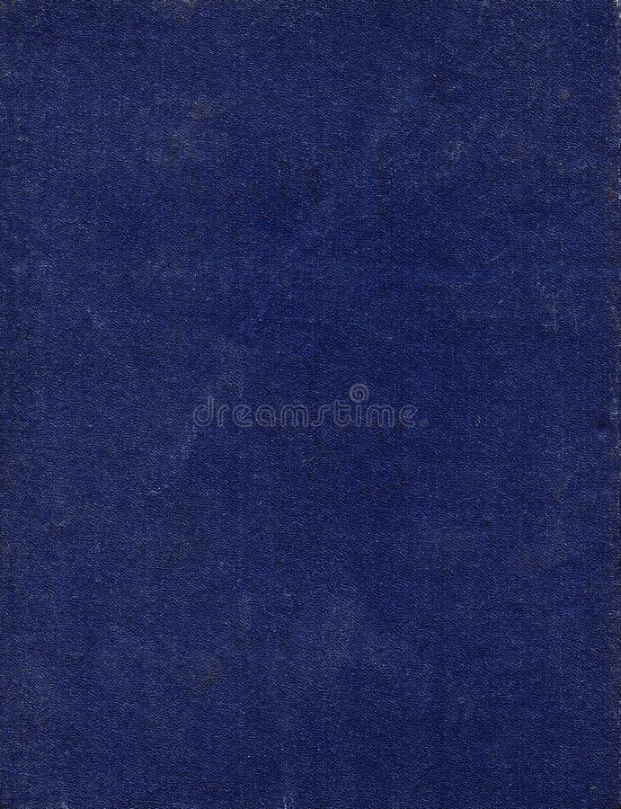 Det smutsiga och skrapade gamla mörkret - blått bokomslag Bakgrund royaltyfri foto