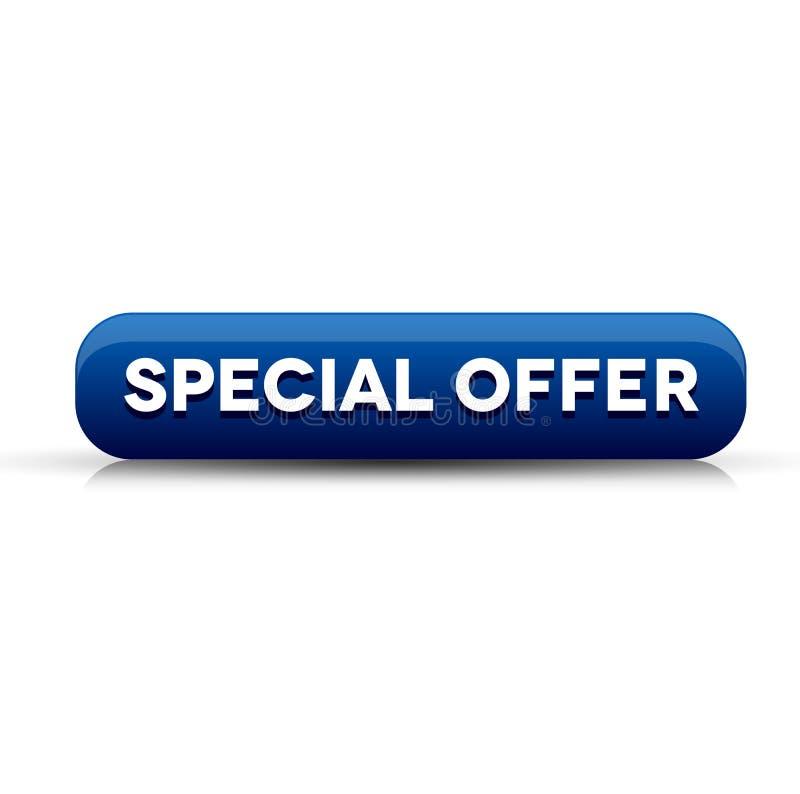 Det speciala erbjudandet knäppas blått vektor illustrationer