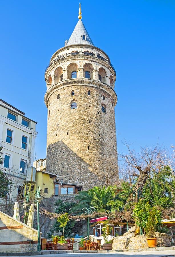 Det spensliga tornet arkivfoton