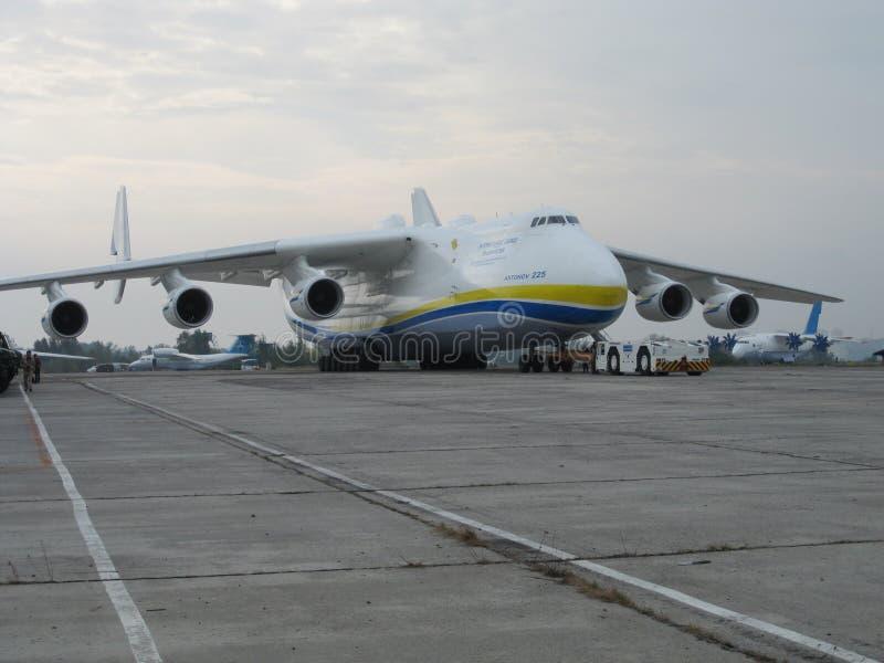Det största flygplanet i världen An-225 Mriya arkivfoto
