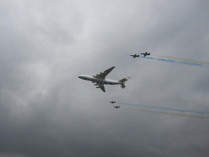 Det största flygplanet i världen An-225 Mriya arkivbilder