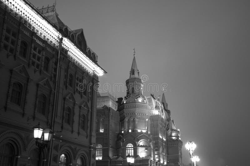 Det statliga historiska museet av Ryssland Lokaliserat mellan den röda fyrkanten och den Manege fyrkanten i Moskva royaltyfri foto