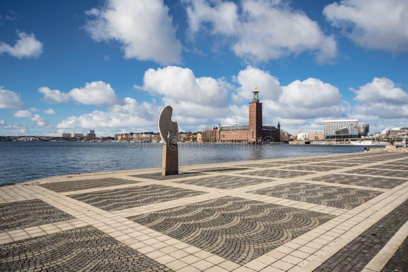 Det Stockholm stadshuset i Sverige royaltyfri foto