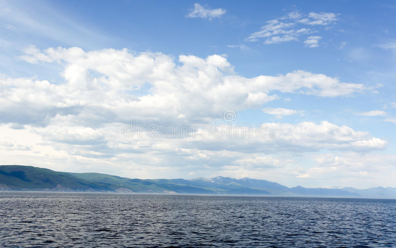 Det stora Laket Baikal, Ryssland royaltyfri fotografi