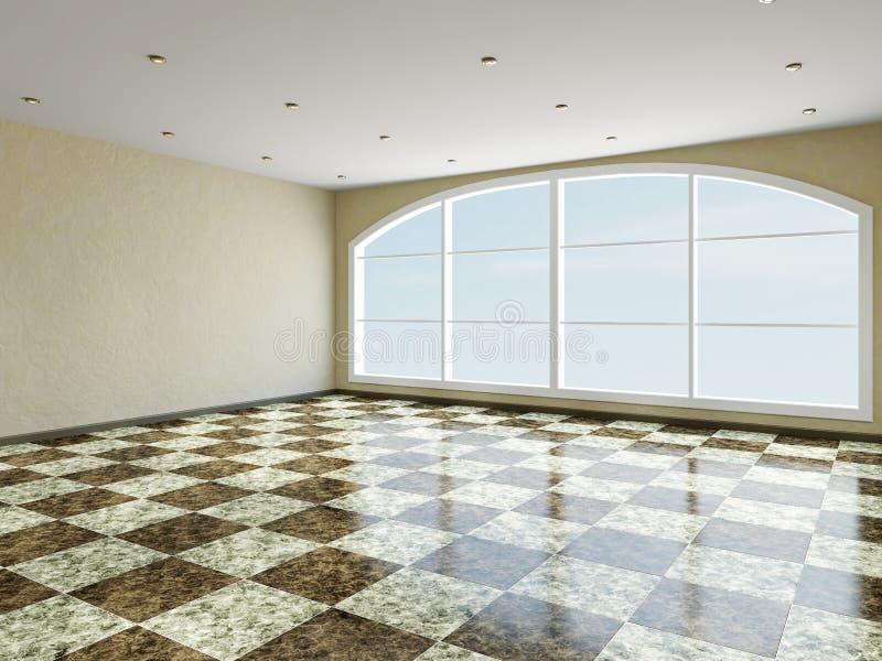 Det stora rummet med fönstret royaltyfri illustrationer