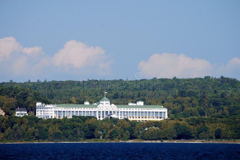 Det storslagna hotellet av den Mackinac ön. royaltyfri bild