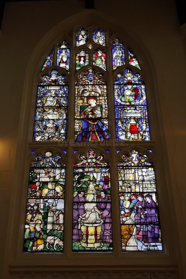 Det Susanna fönstret på domkyrkan för St. Edmundsbury royaltyfri fotografi
