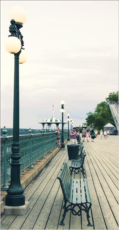 Det Terrasse dufferinbrädet går royaltyfri foto