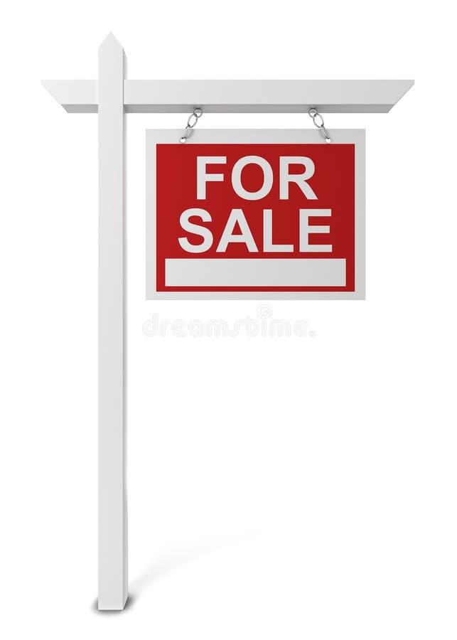 Det till salu huset undertecknar stock illustrationer