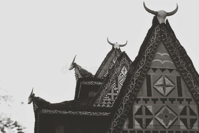 Det traditionella huset arkivfoton