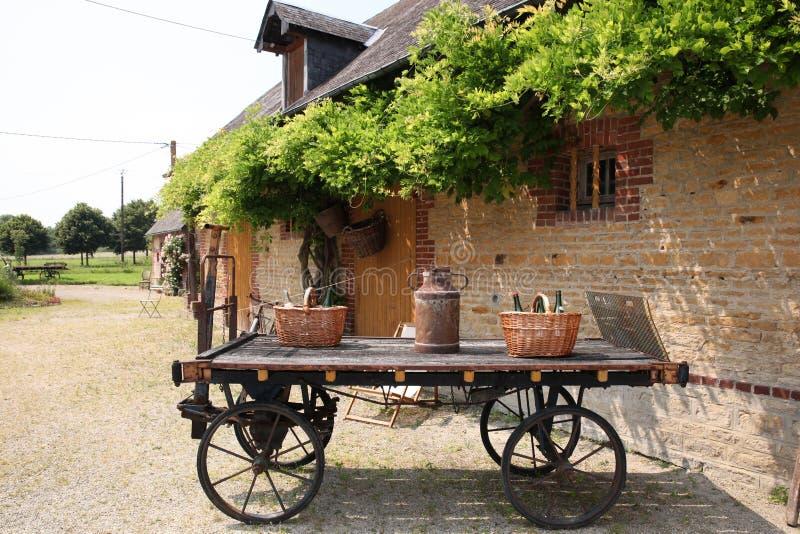 Det traditionella Normand huset arkivfoto