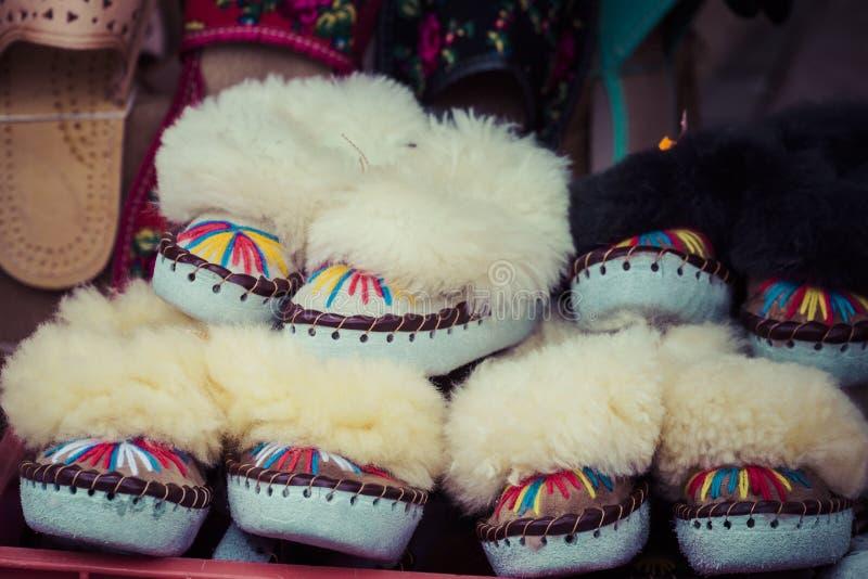Det traditionella polska läderberget startar för barn som kallas 'K arkivfoton