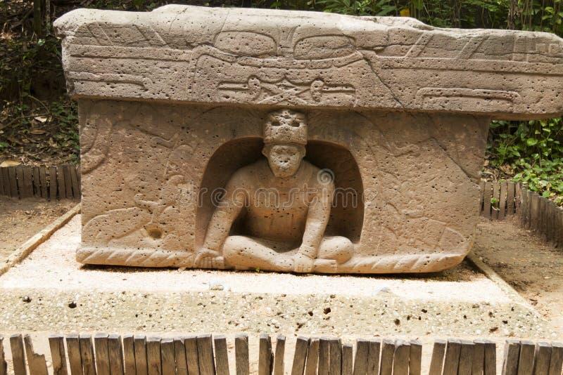 Det triumf- altaret Olmec, La Venta parkerar Villahermosa tabasco, Mexico royaltyfri bild