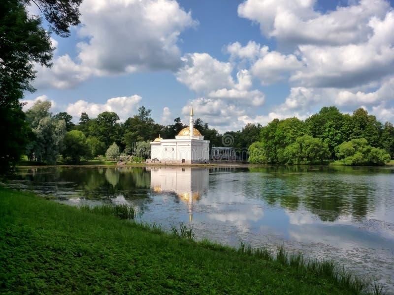 Det turkiska badet i Tsarskoe Selo royaltyfria foton