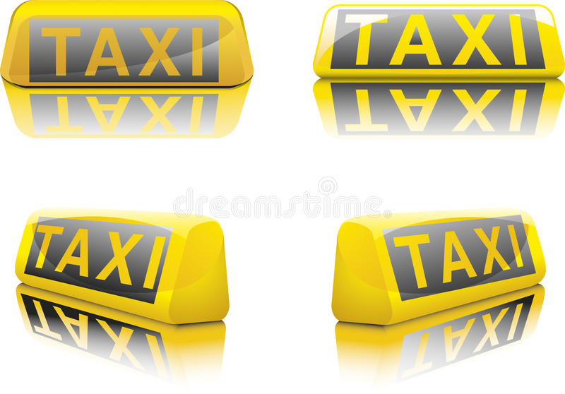 det tyska tecknet taxar stock illustrationer