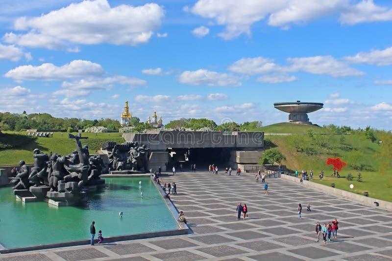Det ukrainska statliga museet av det stora patriotiska kriget, Kyiv, Ukraina arkivbild