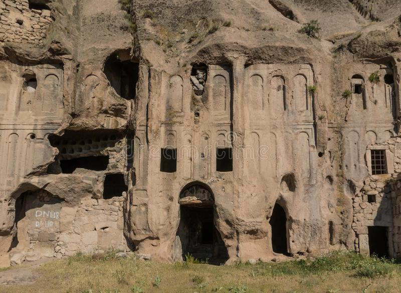 Det underbara landskapet av Cappadocia, Turkiet royaltyfri fotografi