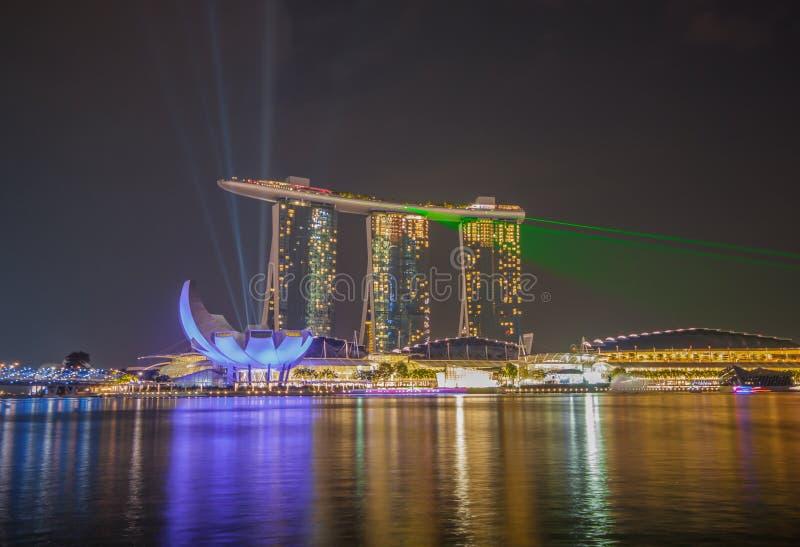 Det underbara Marina Bay Sands hotellet, Singapore fotografering för bildbyråer