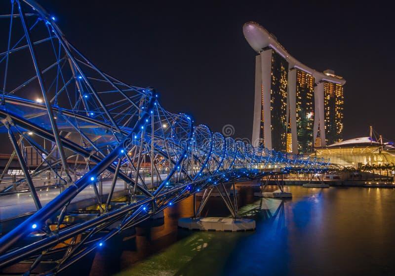 Det underbara Marina Bay Sands hotellet, Singapore arkivfoton