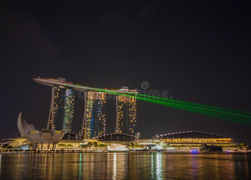 Det underbara Marina Bay Sands hotellet, Singapore royaltyfri foto